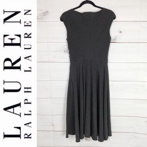 Lauren Ralph Lauren black polka dot dress size 6